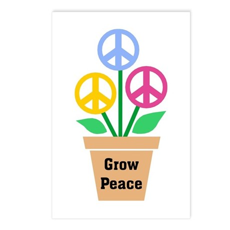 Grow Peace 2 Postcards ~ Package of 8