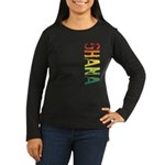 Ghana Women's Long Sleeve Dark T-Shirt