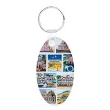 cover of cape may houses Keychains