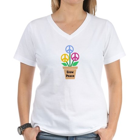Grow Peace 2 Women's V-Neck T-Shirt