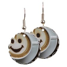 smiley coffee  Earring