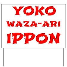 Judo Scoring Yard Sign