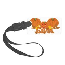 Halloween Pumpkin Gavin Luggage Tag