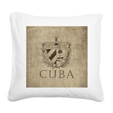 Vintage Cuba Square Canvas Pillow