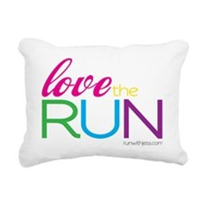 Love the Run 2 Rectangular Canvas Pillow