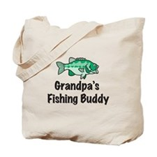 Grandpa's Fishing Buddy Tote Bag