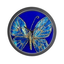 Glitter Butterfly Wall Clock