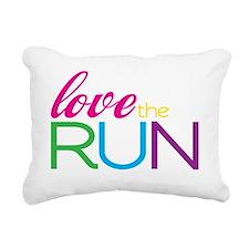 Love the Run Rectangular Canvas Pillow