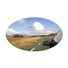 Near Clifden - Galway Oval Car Magnet
