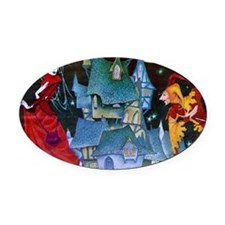 Evil Queen Oval Car Magnet