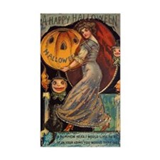 Vintage Halloween Card Decal