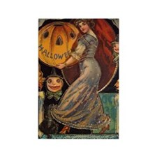 Vintage Halloween Card Rectangle Magnet