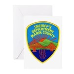 Marin Sheriff Greeting Cards (Pk of 10)