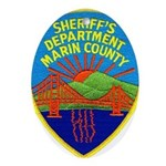 Marin Sheriff Oval Ornament