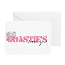 Coastie's Little Girl Greeting Cards (Pk of 10