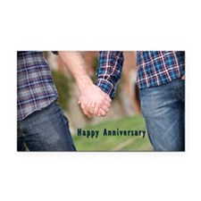 M/M Anniversary Rectangle Car Magnet
