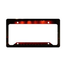Red curtain in movie theater License Plate Holder