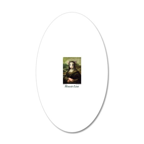 Mousie Lisa 20x12 Oval Wall Decal
