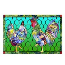 rooster  hen Postcards (Package of 8)