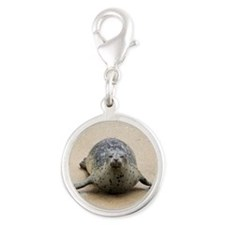 A Harbor Seal Silver Round Charm