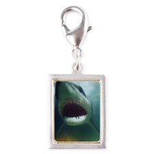 Great White Shark Silver Portrait Charm