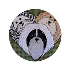 "Hav A Heart by Pat Casson 3.5"" Button"