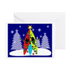 Kayaking Christmas Card Gails Greeting Card