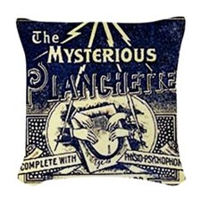 Vintage Ouija Mystery planchet Woven Throw Pillow