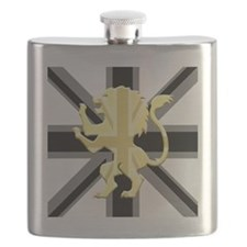 Black Union Jack Lion Rampant Flask