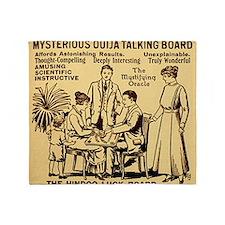Vintage ouija talking board Ad Throw Blanket