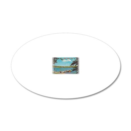 Pine Haven Post Card 20x12 Oval Wall Decal