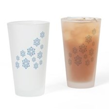 ICY BLUE SNOWFLAKES Drinking Glass