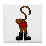 heart monkey Tile Coaster