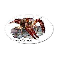 Louisiana Crawfish 35x21 Oval Wall Decal