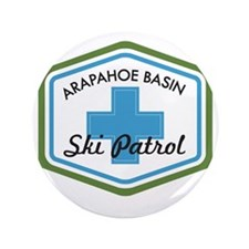"Arapahoe Basin Ski Patrol 3.5"" Button"