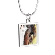Gypsy Vanner Ivy Silver Square Necklace