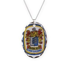 uss henry b wilson patch trans Necklace
