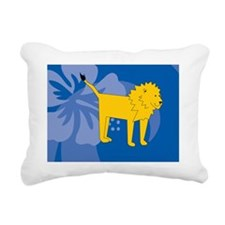 Lion Picture Ornament Rectangular Canvas Pillow