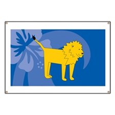Lion Car Magnet 20 x 12 Banner