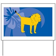 Lion Car Magnet 20 x 12 Yard Sign