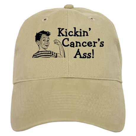 Kickin' cancer's ass Cap