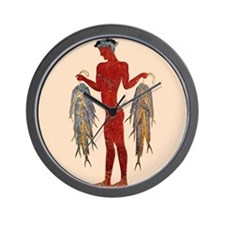 Minoan Fisherman- Wall Clock