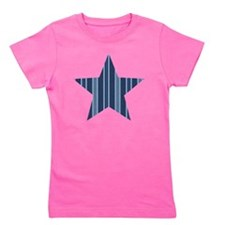Blue Striped Star Girl's Tee