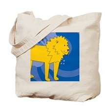 Lion Round Car Magnet Tote Bag