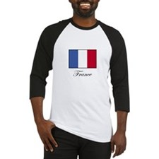 France - Flag of France Baseball Jersey