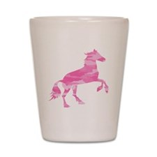 Pink Camo Horse Shot Glass