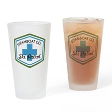 Steamboat Ski Patrol Patch Drinking Glass