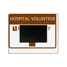 Hospital Volunteer Powered by Coffee Picture Frame