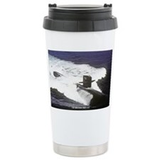 st uss houston sticker Ceramic Travel Mug