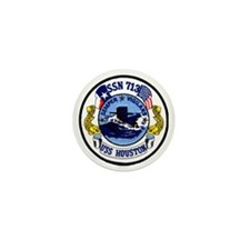 uss houston patch transparent Mini Button